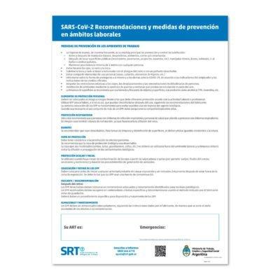Cartel Obligatorio - Obras y Comercios - SRT - SARS Cov2