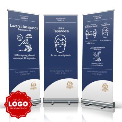 Banner Protocolo Covis - Logo Personalizado - Colegios - Empresas