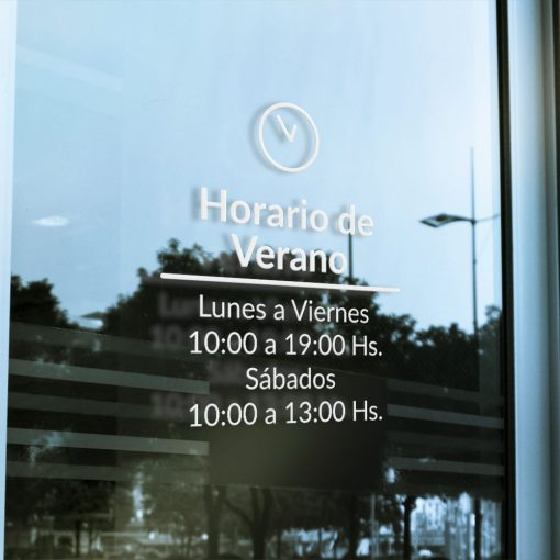 Cartel ploteado para Horario de local comercial