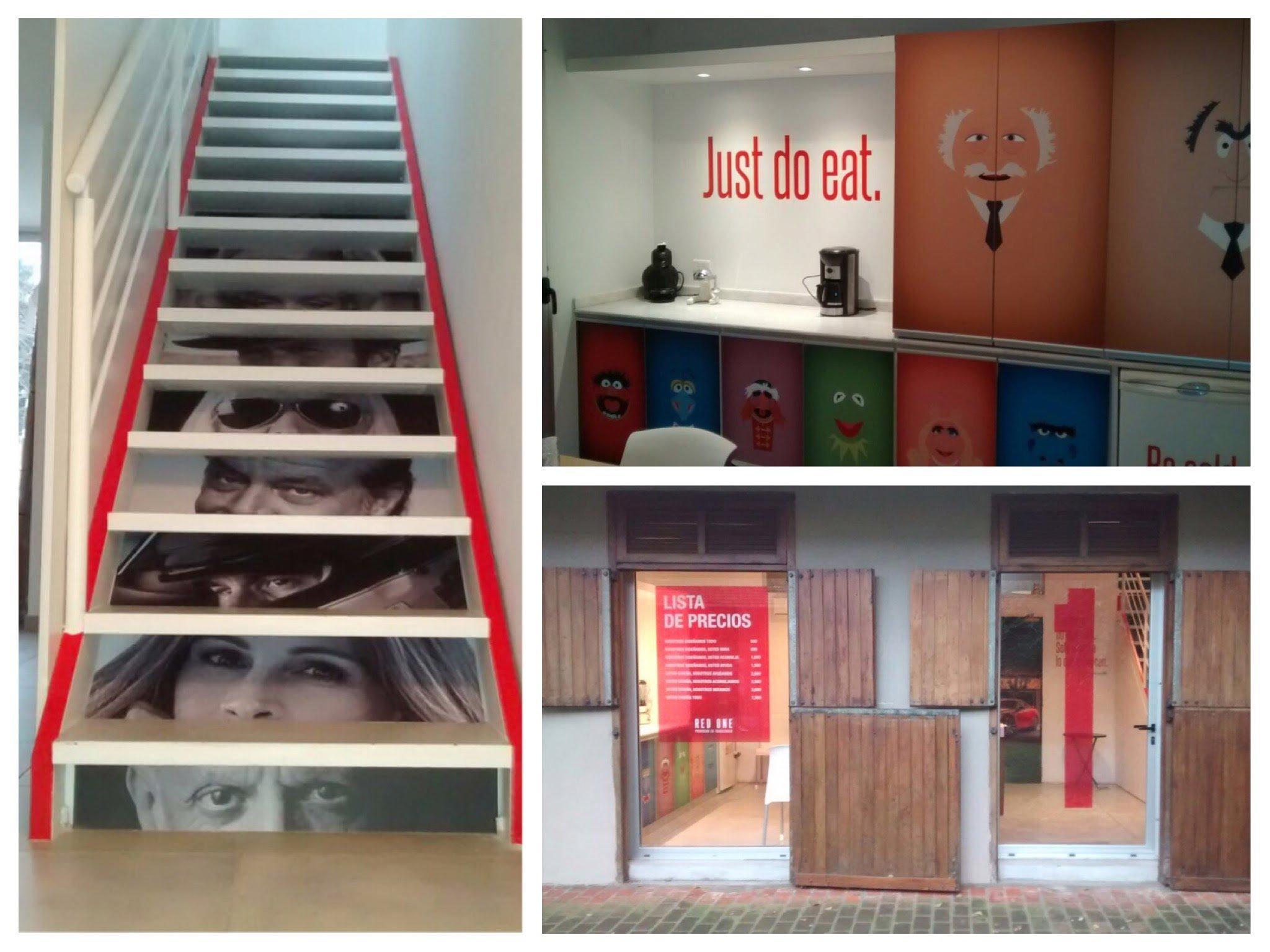 Gráfica para oficinas de Agencia de Publicidad - Red One Argentina