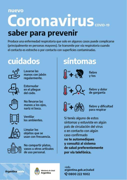 Poster Saber para prevenir
