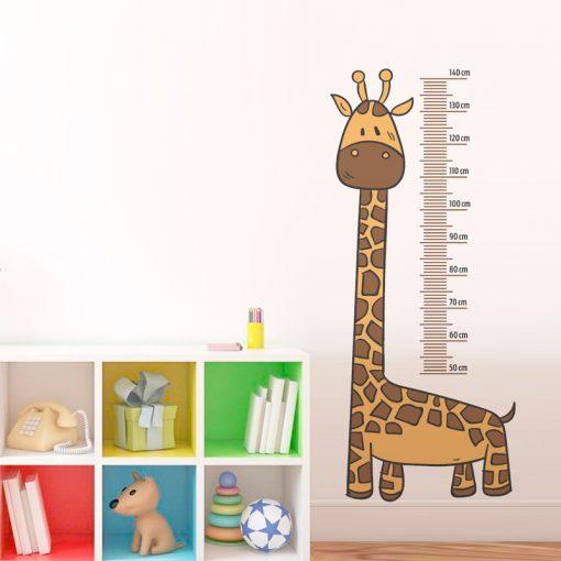 Medidor infantil de pared - Jirafa - 140 cm