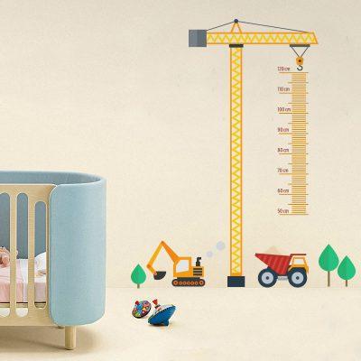 Medidor Infantil - Grúa en Construcción - 120 cm