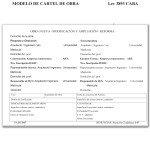 Modelo Cartel de Obra GCBA - Ley 3893 - Ciudad Autonoma de Buenos Aires