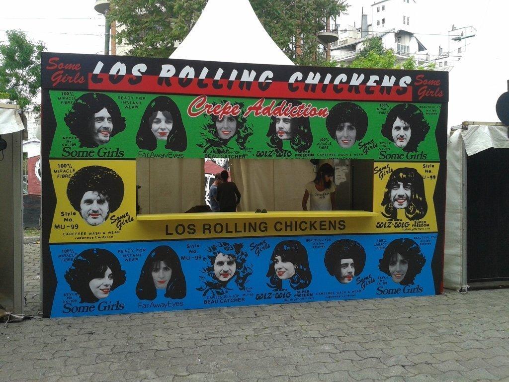 Stand de comida Rolling Chicken - Feria Masticar 2014