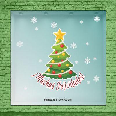 """Árbol de navidad con frase """"Muchas Felicidades!"""