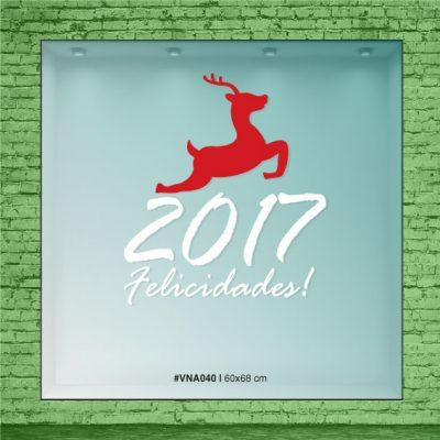 Alce saltándo - Frase 2017 Felicidades