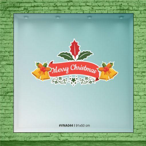 Merry Christmas con campanas color