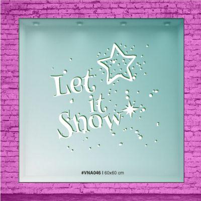 Let it Snow con estrellas y nieve