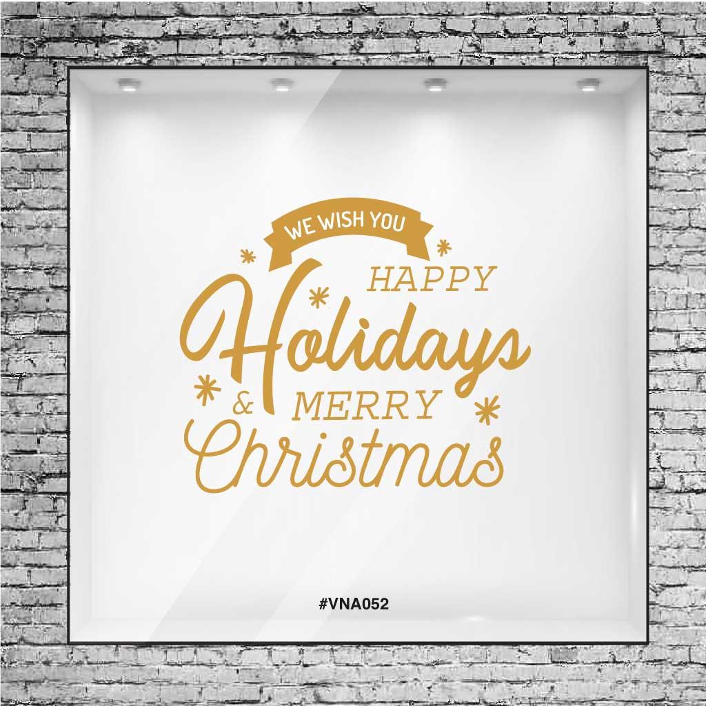 Frase En Vinilo Felices Fiestas Y Feliz Navidad