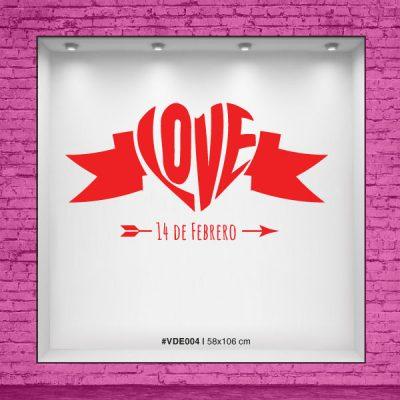 Vinilo dia de los enamorados