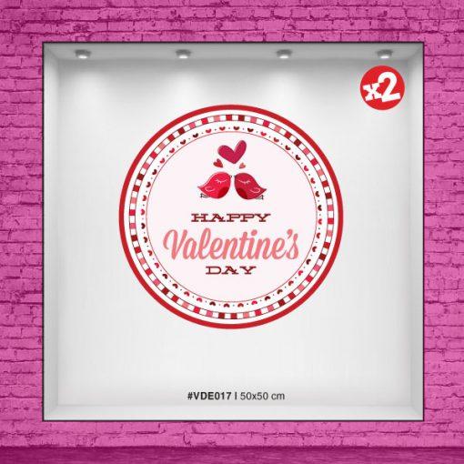 Vinilo cucarda Valentine's