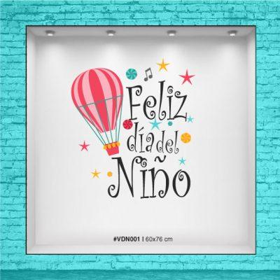 Vinilo para vidriera - Día del Niño - Globo Aeroestático