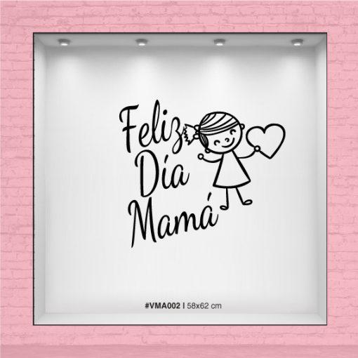 Feliz día Mamá - Niña con corazón