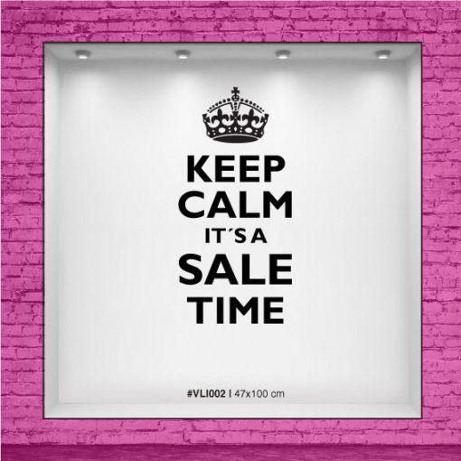 Calco para vidriera - Keep Calm it´s a Sale Time