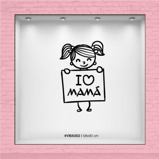 I love Mamá - Niña con cartel
