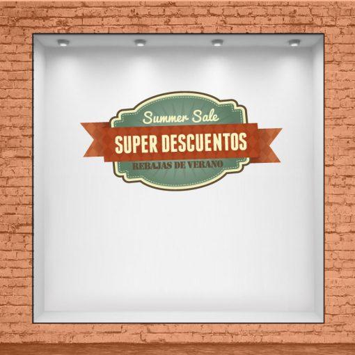 Escudo Summer Sale - Super Descuentos - Rebajas de Verano
