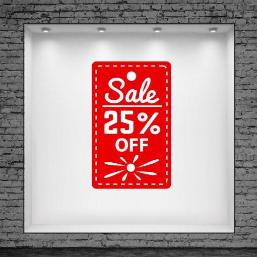 Etiqueta Sale 25% Off