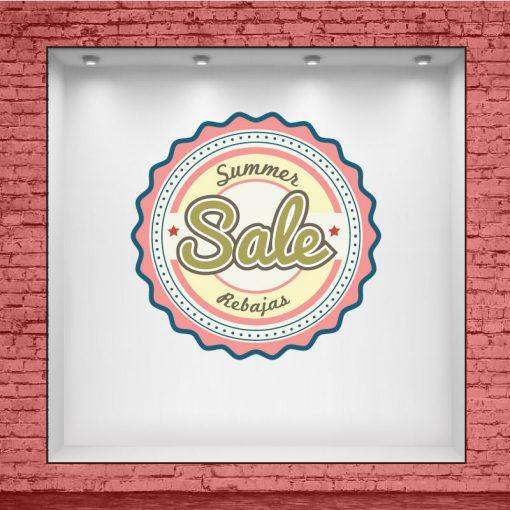Boton Vintage de Summer Sale - Rebajas