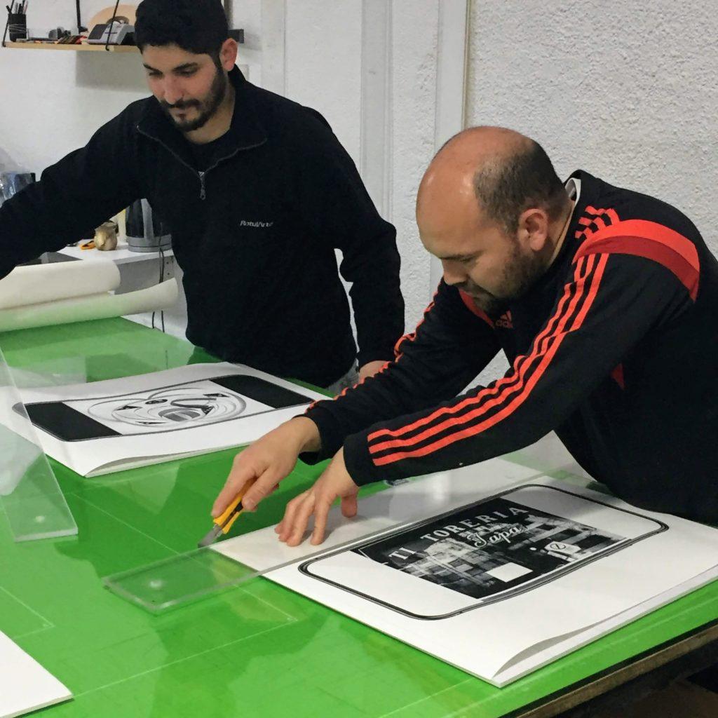 Aldo Sessa - Mi tercer Ojo - Proceso de montaje en Foam-Board