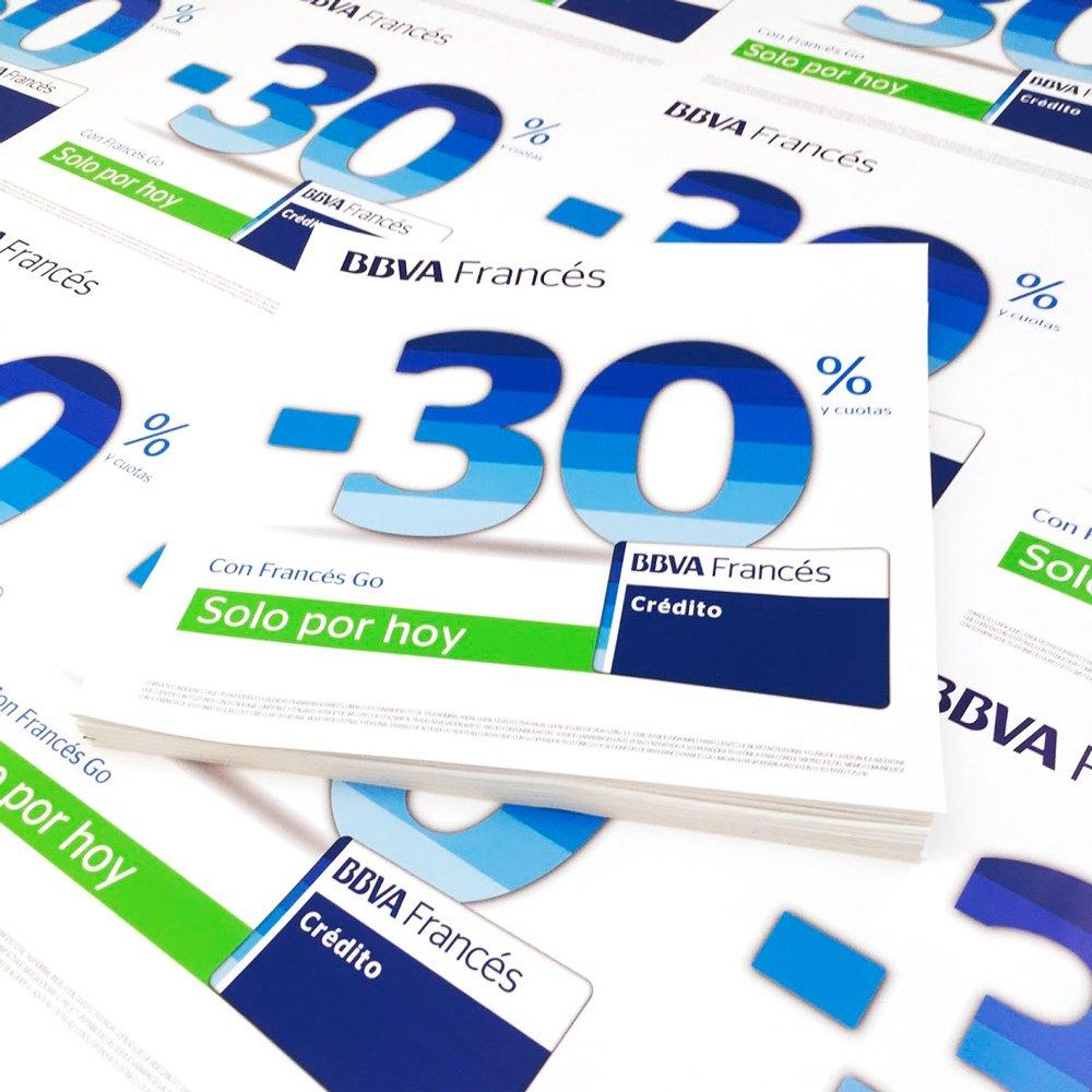Calcos Promo banco Frances - Cortadas individualmente