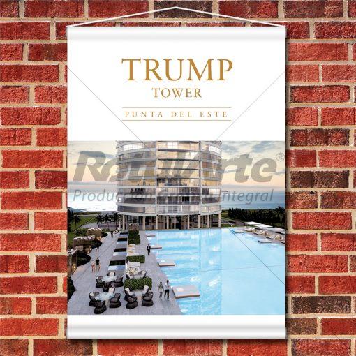 Banner colgante Trump-Tower Punta del Este