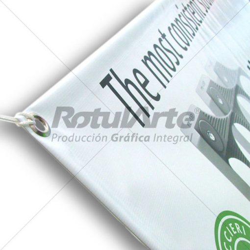 Banner de loana con ojales