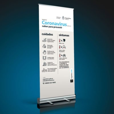 Banner de Pie - Roll-Up - Coronavirus - Covid19