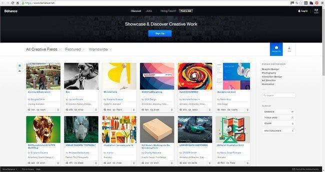 Behance portfolio diseño gráfico