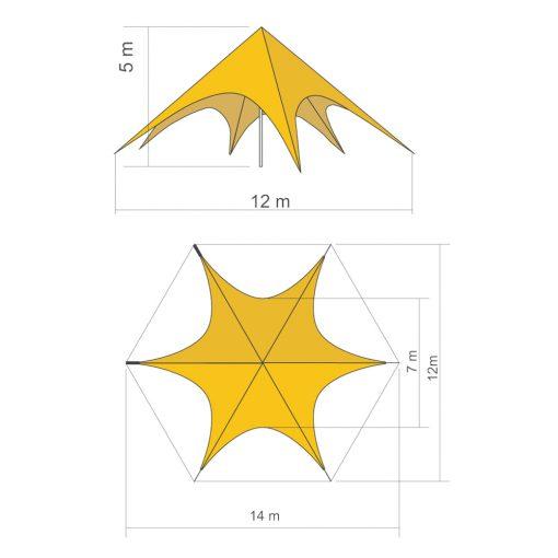carpa-publicitaria-estrella-5-lados-impresa-full-color-plano