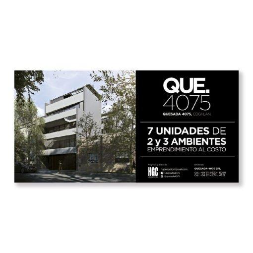 Cartel de obra Arquitectura - Publicitario