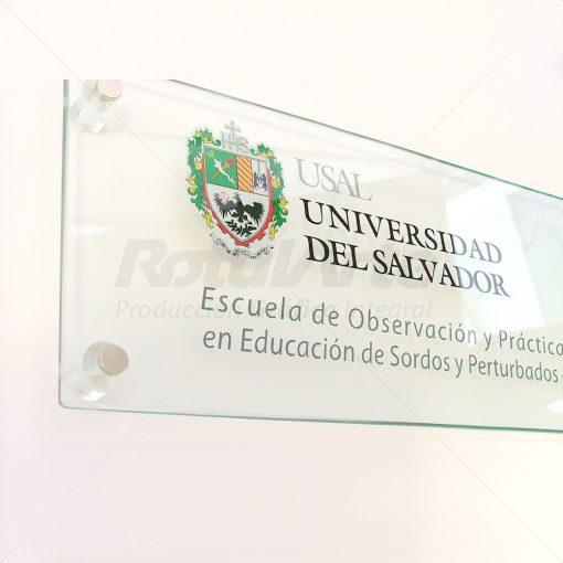 Cartel de entrada Universidad del Salvador