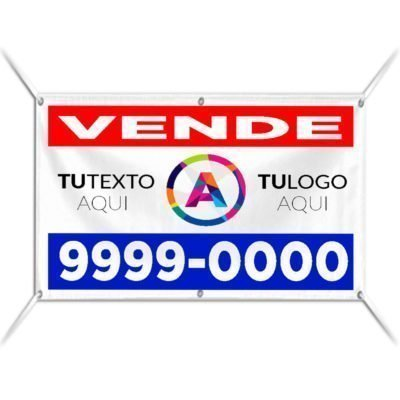 Cartel de Inmobiliaria en Lona Vinilica con Ojales