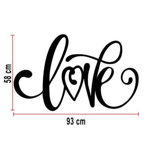 Cartel corpóreo LOVE