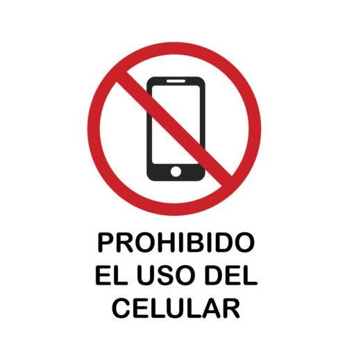 Calco en Vinilo - Prohibido el uso del Celular
