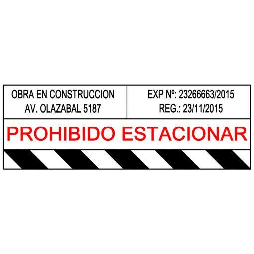 Cartel de Obra – Caballete Prohibido Estacionar – Señalización Industrial – x2 Un. 100 x 35 cm