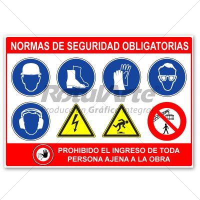 Cartel de seguridad en obra - 100 x 70 cm