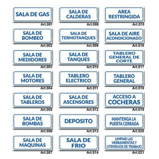 Carteles Informativos de Señalización - Sala de Gas