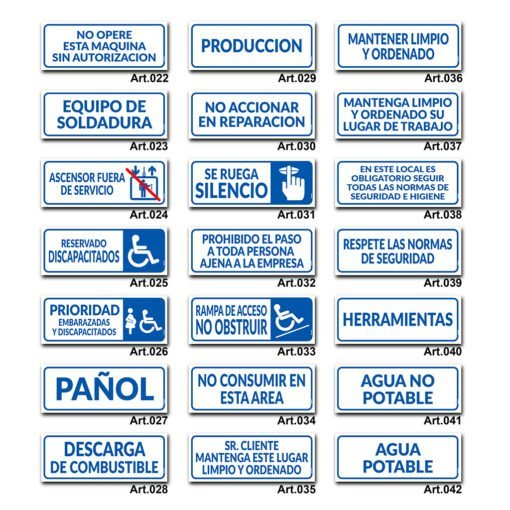 Carteles Informativos de Señalización - Discapacitados