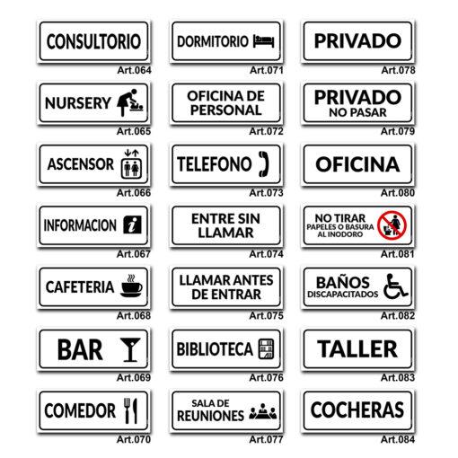 Carteles Informativos de Señalización - Gastronomia