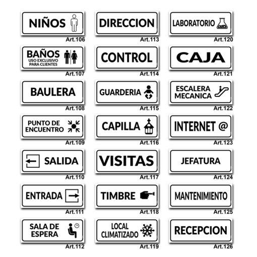 Carteles Informativos de Señalización - Empresas - Oficinas