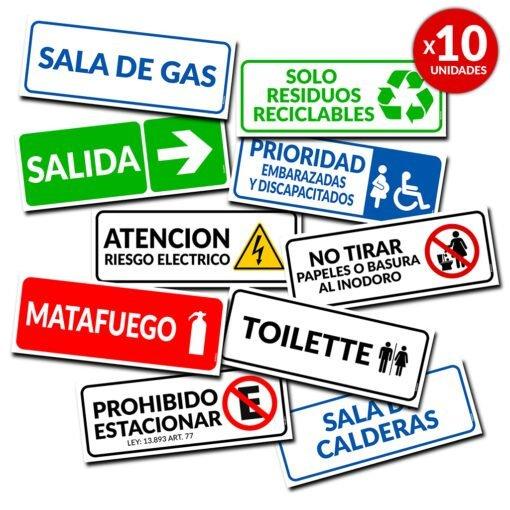 Carteles Informativos para Señalización de Consorcios- Empresas- Instituciones