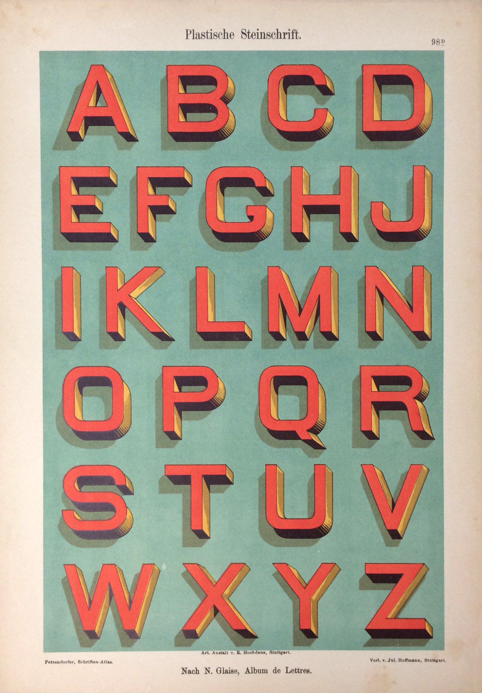 Tipografías plástica sobre piedra