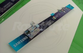 Cenefa en acílico routeado bajo vidrio full color - Samsung
