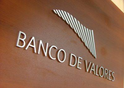 Banco de valores - Cartel Corpóreo para escritorios