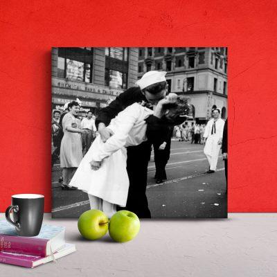 Cuadro fotolienzo - San Valentín - Día de los enamorados - 30x30 cm en tela de algodón