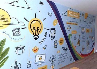 decoracion-oficina-mural-ploteado