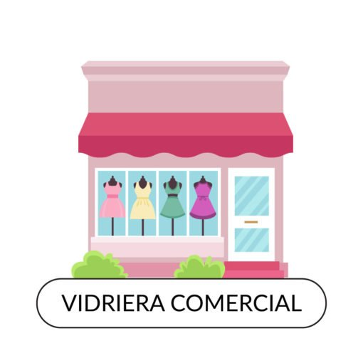 Diseño Gráfico Profesional de Vidrieras Comerciales