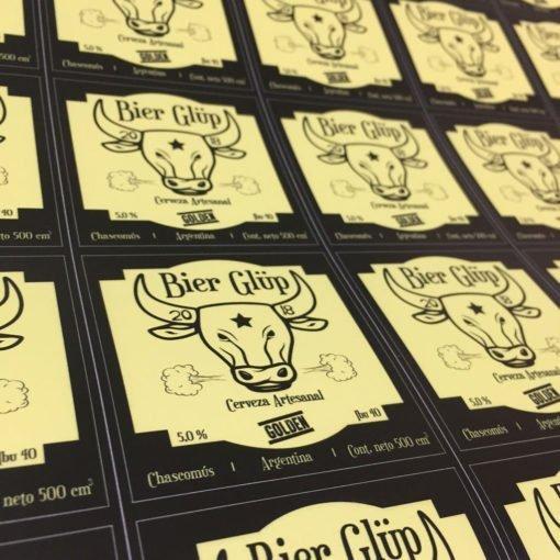 Impresión de etiquetas para cerveza artesanal