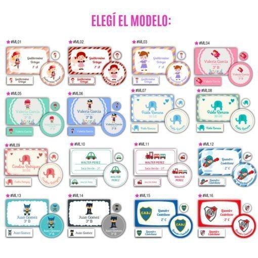 Etiquetas Escolares Personalizadas - Diseños Exclusivos